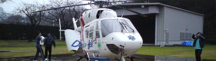 A helicopter for medical care